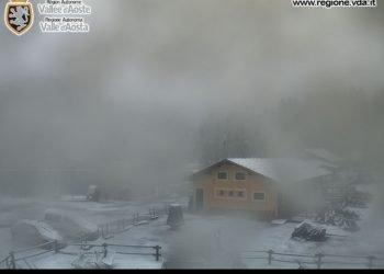 valle-d'aosta,-nevica-a-quote-eccezionalmente-basse