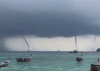 eccezionale-video:-4-trombe-marine