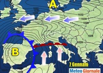 meteo-7-13-gennaio,-pioggia-e-neve-dal-nord-ovest-per-epifania,-forti-venti,-inizia-maltempo