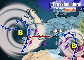 meteo-7-giorni:-forte-maltempo-si-sposta-verso-il-sud,-da-lunedi-una-pausa