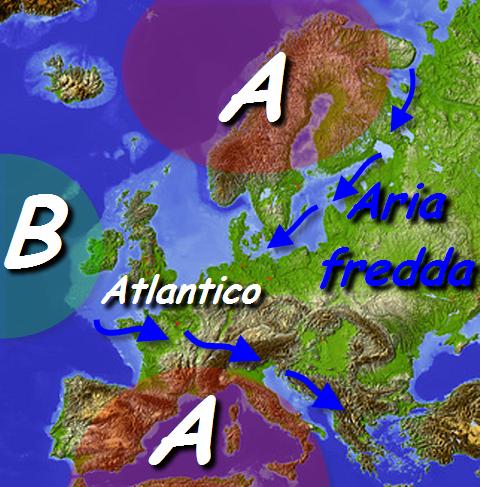 Dalla prossima settimana la struttura anticiclonica potrebbe iniziare a subire degli attacchi da parte delle perturbazioni atlantiche. Entrerà in crisi? Vedremo. Rielaborazione grafica a cura della Redazione del Meteo Giornale.
