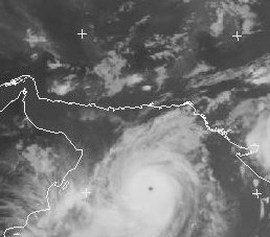 Gonu visto da satellite alle 15 GMT di lunedì 4 giugno. Fonte immagine www.eumetsat.int
