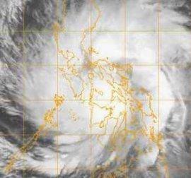 Il tifone Utor visto da satellite alle 18.30 GMT di sabato 9 dicembre. Fonte www.nrlmry.navy.mil.