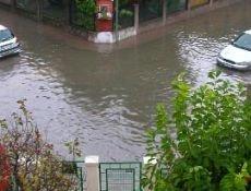 Gli allagamenti nella zona di Mestre causati dall'eccezionale intensità delle precipitazioni. Foto di