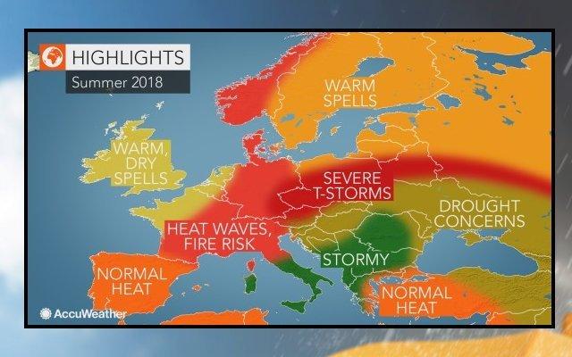 meteo estate previsioni accuweather europa 50988 1 2 - Estate 2018, è METEO da SHOCK. Le previsioni di AccuWeather per Italia