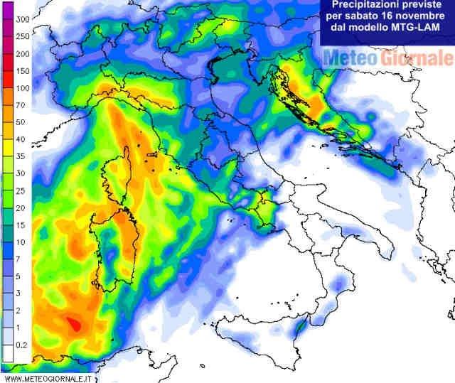 meteo sabato 16 novembre perturbazione carica pioggia neve 62347 1 2 - Meteo sabato 16 novembre. Ennesima perturbazione carica di PIOGGIA e NEVE