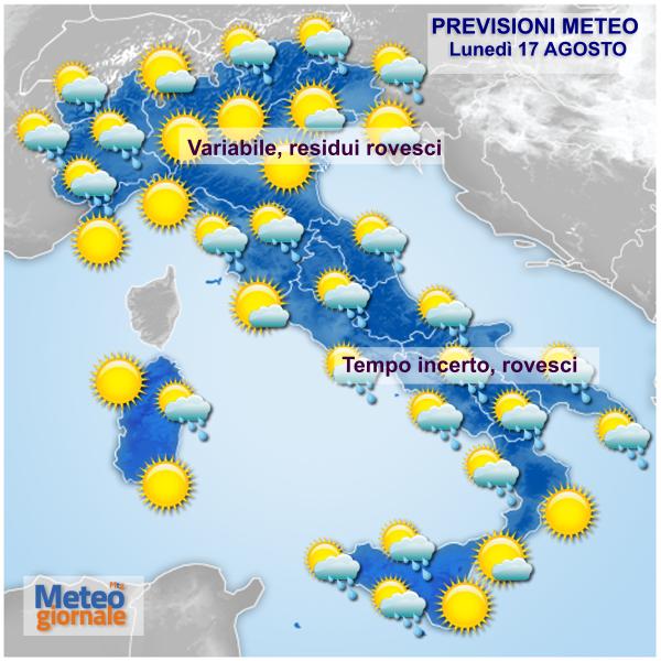 nubi e temporali sparsi un po in tutta italia temperature nella norma 39579 1 2 - Meteo incerto: Ferragosto e Domenica con temporali sparsi un po' in tutta Italia. No afa