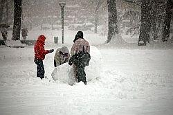 La neve del 26/27 gennaio 2006, la più intensa degli ultimi 20 anni nel capoluogo lombardo. Foto di Nico Cavallotto.