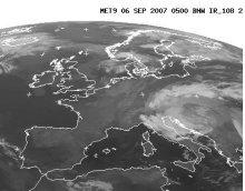 Immagine Meteosat (copyright EUMETSAT) www.meteogiornale.it/live/meteosat.php.