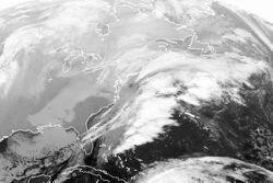 L'immagine satellitare della bufera di neve sulla Costa Orientale statunitense. Fonte: www.sat.dundee.ac.uk.